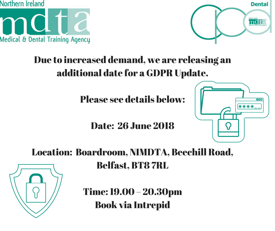 Due to increased demand, we are releasing an additional date for a GDPR Update. Please see details below_ Date_ 2