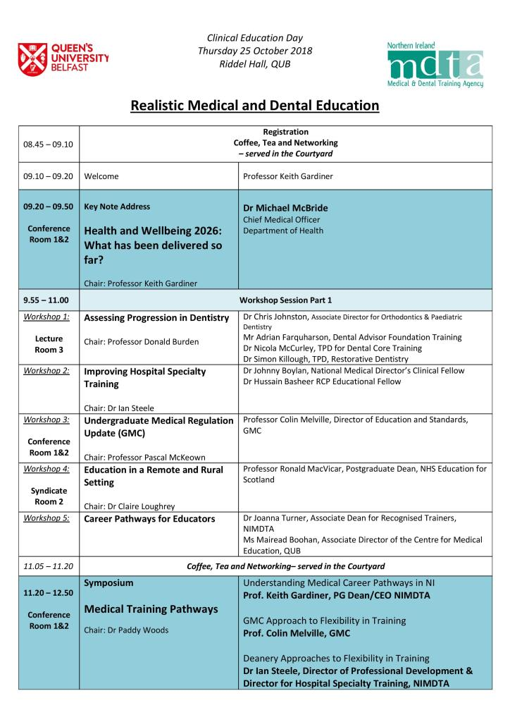 QUB NIMDTA Clinical Education Day -Thursday 25th October 2018-page-001